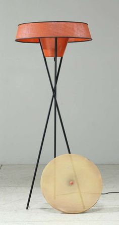 A 1950s Gerald Thurston Tripod Floor Lamp for Lightolier | From a unique collection of antique and modern floor lamps at http://www.1stdibs.com/furniture/lighting/floor-lamps/