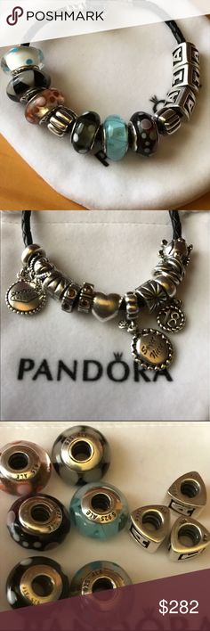 2 pandora bracelet + 22 items You get two bracelets plus 22 AUTHENTIC PANDORA ITEMS ! Looking to downsize my pandora items I've collected over time. YES THERE 10000% authentic Tired of seeing these lol. If you don't want some but most it's an easy resell of the ones you don't want as each ones are listed in my closet for $25-$40 ! Pandora Jewelry Bracelets