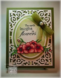 Crafting The Web: The Earth Laughs Tutorial. Birds and blooms - A2 Filligree Delight