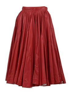 A-line skirt from Calvin Klein with pleats and a high-waist. A Line Skirts, Tommy Hilfiger, Calvin Klein, Tulle, Style Inspiration, Red, Fashion Design, High Waist, Clothes