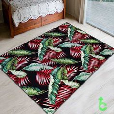 New Tropical Hawaiian banana leaf upholstery Blanket