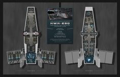HWK-290 Light Freighter Deck Plan by EdisonCreative.deviantart.com on @DeviantArt