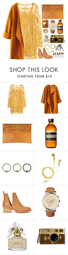 """Sem título #744"" by andreiasilva07 ❤ liked on Polyvore featuring H&M, Ilundi, Aesop, PhunkeeTree, Jeffrey Campbell, Georg Jensen, Marc Jacobs and Mark's Tokyo Edge"