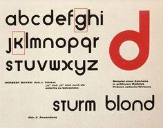Sturm Blond typeface, (1925) Designed by Herbert Bayer