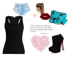 """Untitled #28"" by mina160 on Polyvore featuring Christian Louboutin, Skin, NIKE and Betsey Johnson"