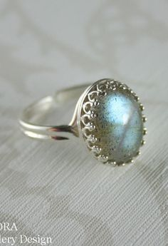 Labradorite ring Sterling silver labradorite