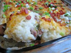 loaded shepherds pie (could use ground chicken or turkey instead of beef)