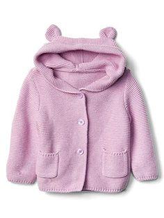 Gap Baby Bear Garter Hoodie Lavender
