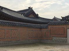 景福宮の美しい模様塀