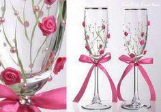 Kaunistatud klaasid.
