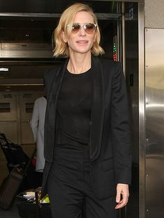 Star Tracks: Tuesday, June 14, 2016 | BACK IN BLACK | Cate Blanchett dons a sleek ensemble as she arrives at LAX Airport in L.A.