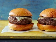 Perfect Burger recipe from Bobby Flay via Food Network:  The timing was perfect.  Will use the next time I HAVE to cook them inside.