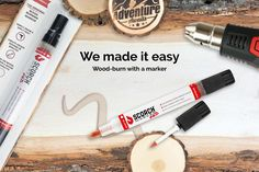 HOME | SCORCH MARKER - Wood Burning Made Easy – Scorch Marker Wood Burning Tips, Wood Burning Crafts, Wood Burning Patterns, Wood Crafts, Fun Crafts, How To Clean Pennies, Wood Burning Stencils, Homemade Books, Dremel Wood Carving
