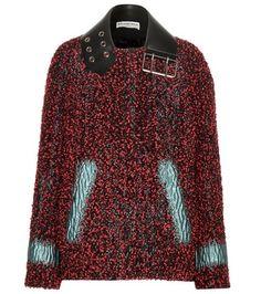 Balenciaga Exclusive To Mytheresa.com – Bouclé Wool-blend Jacket For Spring-Summer 2017