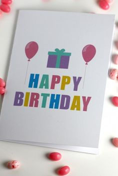 Free printable birthday cards perfect for kids, adults, and relatives! Blank inside!   CatchMyParty.com