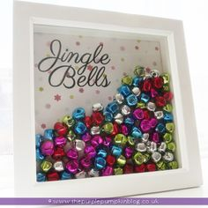 Christmas Shadow Box | The Purple Pumpkin Blog