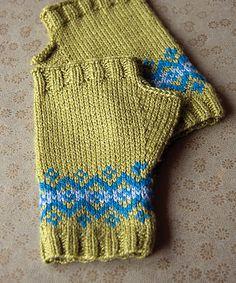 Ravelry: Fair Isle Fingerless Mitts pattern by Megan Goodacre