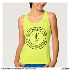 Silhouette exercise for life workout tank top