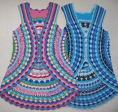 Flower power vest, designed by Lene Unmack Larsen.  Free pattern on Ravelry.  Also beautiful in a single color, as shown under the Projects tab.  #crochet