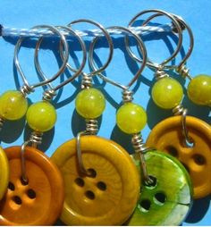 Button stitch markers. Thanks Marta McCall
