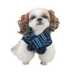 Conjunto Jersey & Bufanda Snow - KUKA´S WORLD - Ropa y Accesorios exclusivos para Perros. Moda Canina de Diseño y Artículos para Mascotas con estilo. Designer Dog Clothes and Luxury Accessories for Pets! www.kukasworld.com/