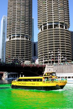 Water Taxi,   Chicago, Illinois  Pretty cheap ride to Navy pier.  I love this.