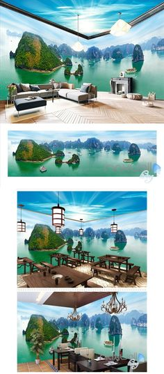 Guilin landscape theme space entire room wallpaper wall mural decal IDCQW-000013 Painting Wallpaper, Room Wallpaper, Photo Wallpaper, Wall Mural Decals, Wall Decor Design, Inspiration Design, Beautiful Wall, Wall Sculptures, Decoration