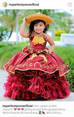 Burgundy Quinceanera Dresses, Mexican Quinceanera Dresses, Quinceanera Themes, Mexican Birthday Parties, Mexican Party, Carnival Outfit Carribean, Charro Dresses, Quince Dresses Mexican, Quinceanera Collection