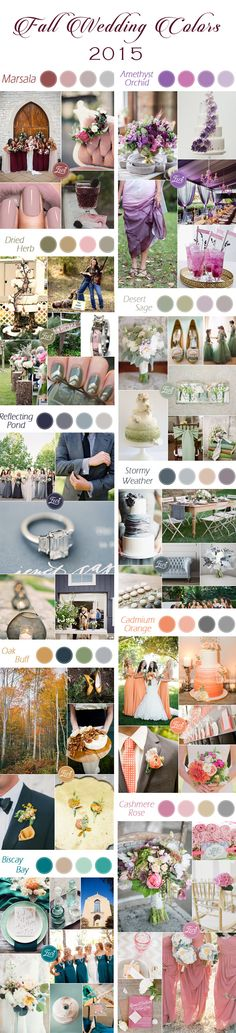 top 10 fall wedding colors 2015 released by Pantone #weddingcolorideas