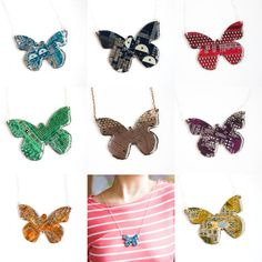 Geeky butterfly necklace contemporary jewelry por ReComputing