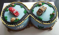 mcQueen Birthdays Cake Cars Movie cake by FunSugarCookie on Etsy, $70.00