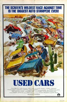 Used Cars , starring Kurt Russell, Jack Warden, Gerrit Graham, Frank McRae. When the owner of a struggling used car lot is killed, it's up to the lot's hot-shot salesman to save the property from falling into the hands of the owner's ruthless brother and used-car rival. #Comedy