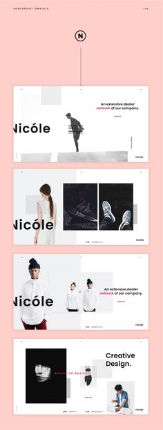Typography and layout Nicole Simple PowerPoint Template - Presentations Great Powerpoint Presentations, Simple Powerpoint Templates, Microsoft Powerpoint, Web Design, Layout Design, Flat Design, Presentation Design, Presentation Templates, Editorial Design
