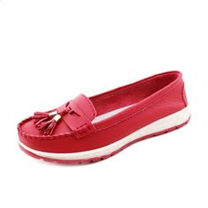 Brand: NO    Shoe Type: Flat Shoes Toe Type: Round Toe  Closure Type: Slip On Heel Type: Flat  Heel Height: 1.5cm Gender: Female Occasion:  Casual,Work,Walk  Season: Spring, Summer,Autumn  Color:  Black,Red,Green,Yellow   Material: Upper Material: Leather Outsole Material: Rubber   Package included:  1*pair of shoes(without box)            Please Note:   1.  Please see the Size Reference to find the correct size.    2.The size of these shoes are smaller than ordinary, we…