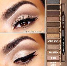 Make Up Urban Decay Naked Palette Makeup 101, Makeup Goals, Beauty Makeup, Makeup Ideas, Makeup Hacks, Drugstore Beauty, Makeup Case, Makeup Brushes, Cosmetic Brushes