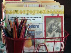 Brenda Pruitt used a plastic dish drainer as a home office file organizer. The cutlery holder is perfect for housing pencils and markers, as the file folders stay straight and upright thanks to dish-drying slots. Photo courtesy of Brenda Pruitt. Organizar Closets, Printer, File Organiser, Organizers, Storage Boxes, Cord Storage, Storage Ideas, Filing Storage, Storage Benches