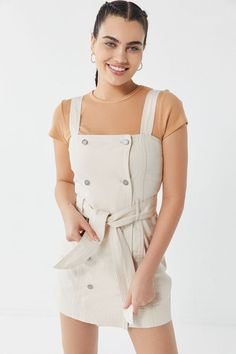 0d2b5c0cf0c  150 urban outfitters C meo Collective Essentials Denim Pinafore Dress  Denim Pinafore