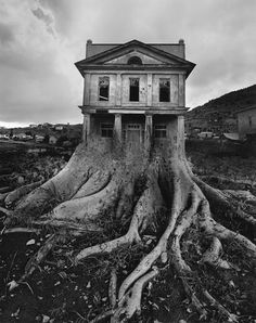 Exhibition dates: June - September 2011 Jerry Uelsmann (American, b. Apocalypse II 1967 Gelatin silver print 10 x 13 in x cm) Collection of the artist © Jerry Uelsmann Uelsmann is one of my favourite artists. His unique vision and the skill required to… Jerry Uelsmann, Bon Jovi, Photomontage, Digital Foto, Surrealism Photography, Art Plastique, White Photography, Digital Photography, Film Photography