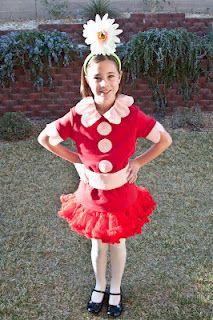 Daisy-Head Mayzie costume for Dr. Seuss Celebration