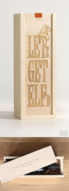 Commemorate the holidays with this fun and inspiring wine box gift. Need we say more? We all know where this is going. Pick your poison and hand over the keys. Have fun and don't be surprised if you wake up with a Santa hat on your head. Make sure to include your personal message, like maybe the last time you all got elf'd together. #boxforabottle