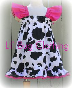 Custom Boutique Clothing Cow Print and Pink by LilBugsClothing, $35.00