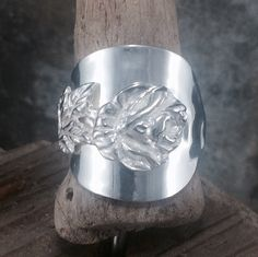 Sterling Silver Rose Ring - Swedish Rose Ring created from a Rose Coffee Spoon - Hallmarked 1952 - Handmade by Adrift Crafts by AdriftCrafts on Etsy