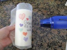 traspasar diseños hechos con marcadores a una vela