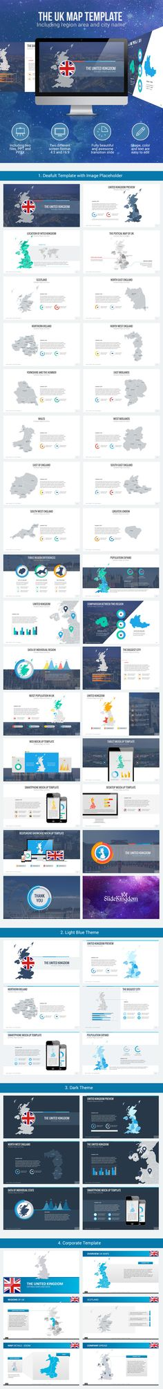 United Kingdom Maps (PowerPoint Templates)