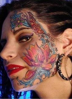 Crazy Tattoo Ideas On Face Best 2015 Designs And