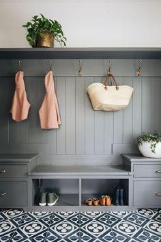 A Modern Classic Renovation (Before + After) - Emily A. Clark Home Staging, Flur Design, Design Design, Tile Design, Interior Design, Modern Design, Mudroom Laundry Room, Diy Home Decor, Room Decor