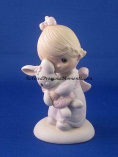 Jesus Loves Me - Girl - Precious Moment Figurine Original 21)