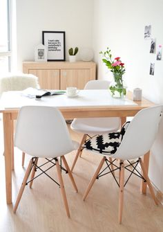 My Dining room / white / Scandinavian style / Eames chairs | Passion shake