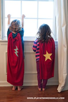 Superhero Cape - easy enough for the little ones to help make