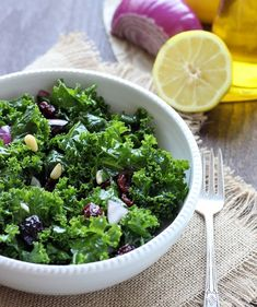 Detox Kale Salad with Lemon Apple Vinaigrette